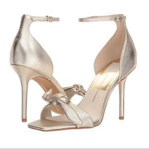 Dolce Vita Gold Helana Heeled Sandal Size 10